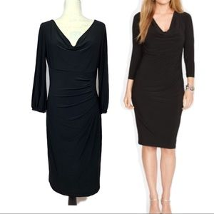 Ralph Lauren Black Cocktail Dress Size 10
